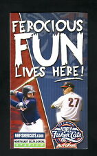 New Hampshire Fisher Cats--2017 Pocket Schedule--Dunkin Donuts--Blue Jays