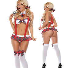 Women's Sexy Lingerie Schoolgirl Uniform Nightwear Underwear Fancy Costume C1