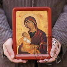 Virgin Mary Nursing Child Breastfeeding Our Lady Milk Byzantine Gold Plating Art