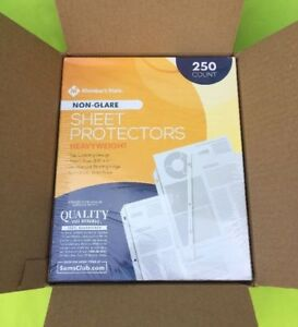 1000 Non-glare Sheet Page Protectors Heavy Duty 8.5 x 11- 3 Ring Binders