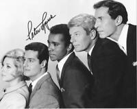 Peter Lupus signed b&w 8x10 tv cast photo Mission Impossible autograph