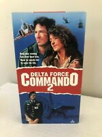 Delta Force Commando 2 (VHS, 1991)  Richard Hatch, Fred Williamson VAN JOHNSON