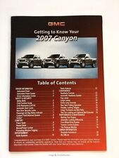 2007 GMC Canyon Truck Original Quick Reference Guide Brochure