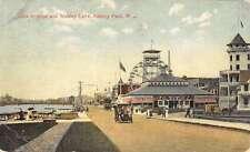 Asbury Park New Jersey Lake Ave Wesley Lake Street View Antique Postcard K29110