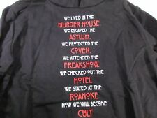 American Horror Story Hoodie List Women's Medium Black NEW