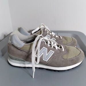 New Balance 574 Women's Size 9.5D Wide Running Shoes Brown/Gray Classic Sneakers