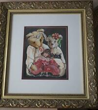 Kathy Karas Water Colour What's Bruin Signed & Framed KC204