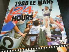 LE MANS ANNUAL YEARBOOK ACO 1988 SILK CUT JAGUAR XJR9 PORSCHE 962 TOYOTA 88C A1