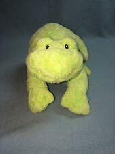 "Baby Gund Dot Tie Dots 58227 10"" Frog Green Stuffed Animal Plush Lovey EUC"
