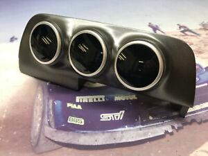 02 04 Subaru Wrx Impreza Triple Gauge Pod 52mm Center Dash Vent Trim OCP