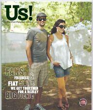 Fiat Us Magazine Issue 1 Winter 2008 UK Market Brochure Grande Punto Abarth Qubo