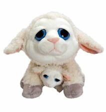 "BNWT - Korimco Mini me Cream ""Sheep with Baby"" Lamb  Plush Toy 25cm/10inch"