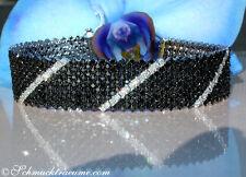 Grandios: Schwarze Diamanten Armband mit Brillanten, 14.96 cts. WG750 17.000€