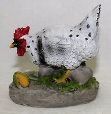 Mother Hen with Eggs Statuette-A
