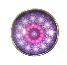 Snap Button Charms Ginger Snaps Buttons Chunk Charm Mandala Purple 2