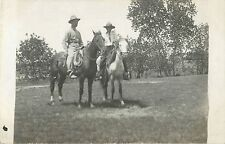 Two Men On Horseback, Philip SD RPPC