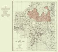 Topo Map - Gila National Forest New Mexico - Elliot 1931 - 23.00 x 25.62