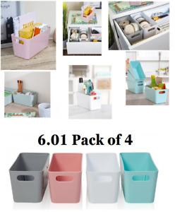 Wham Studio Basket Office 6.01-20 cm Pack of 4 Mrs Hinch Bathroom Kitchen Home