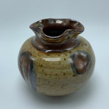 James and Nan McKinnell Handcrafted Pottery Small Stoneware Pot