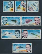 Qatar 1966 American Astronauts set of 8 revalued NH