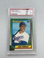 1990 Topps #331 Juan Gonzalez Rookie Card Texas Rangers RC PSA Mint 8.5
