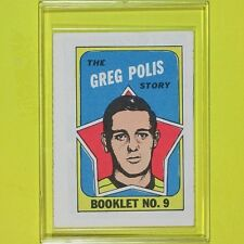 "GREG POLIS  1971-72  "" STORY BOOKLET ""  #9   Pittsburgh Penguins"
