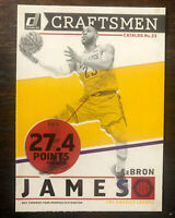 2019-20 Donruss Lebron James Craftsmen SP Insert Card #1