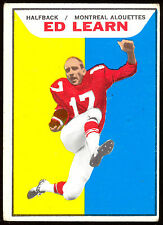 1965 TOPPS CFL FOOTBALL #69 ED LEARN VG-EX MONTREAL ALOUETTES CARD