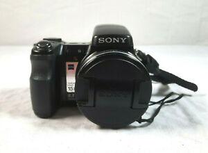 Sony CyberShot DSC-H9 Digital Camera Black 8.1MP Rechargeable Battery NP-BG1