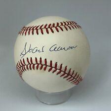 Hank Aaron signed Rawlings ONL baseball PSA DNA HOF Braves A593