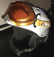 GIRO 540 SKI SNOWBOARD HELMET ADULT MEDIUM 55.5- 57cm FLAT GRAY & Bolle Googles