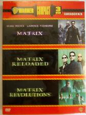 MATRIX-  MATRIX RELOADED- MATRIX REVOLUTION WARNER COMPACT 3 DVD  SIGILLATO