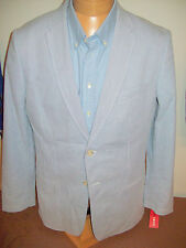 IZOD Cotton Blue and White Pincord Stripe 2 Button Sport Coat NWT XL (46) $145