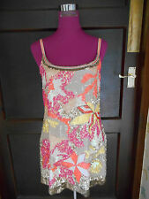 Stunning  All Saints Chaztec Sequin Dress Size 8 VGC