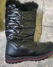 Black Fur Snow Boots Size 5