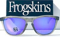 NEW* Oakley Frogskins Grey Ink Crystal POLARIZED Violet Purple Sunglass 9013