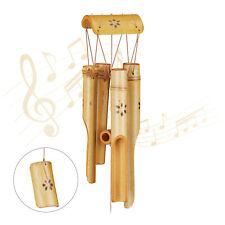 Windspiel Bambus Rohr Mobile Gartendeko Glockenspiel Holz Klangspiel Wind Chimes