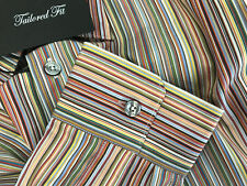 "Paul Smith muchas franjas camisa Londres Byard Taillored Fit 17"" Eu43"