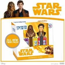 PEZ ~ STAR WARS ~ HAN SOLO & CHEWBACCA TWIN SET ~ NEW IN PACKAGE