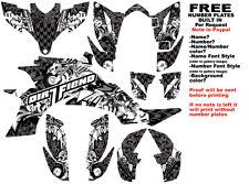 DFR BOMBER GRAPHIC KIT BLACK FULL WRAP YAMAHA YFZ 450 YFZ450