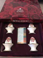ROYAL ALBERT OLD COUNTRY ROSES CHRISTMAS RIBBON SET 4 NAMEPLACE SETTINGS BOXED