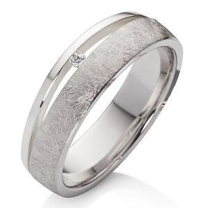Verlobungsring aus 925 Silber Damenring mit echtem Diamant Ring und Gravur SDB43
