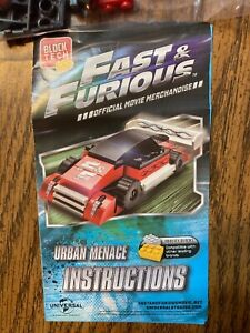 BLOCK TECH FAST & FURIOUS CAR~OFFICIAL MOVIE MERCHANDISE~BUILDING BLOCKS