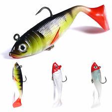 3x Luminous Soft Rubber Fish 10cm/18.5g Bait Wobbler Fishing Lures Jig Swimbait