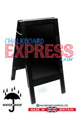 Waterproofed Chalkboard A Frame Pavement Sign Black 800mm x 410mm