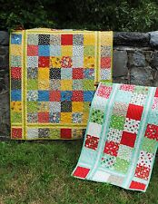 QUILT PATTERN Table runner, baby or lap size,Charms, Layer Cake, or Fat Quarters