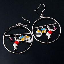 Korean Fashion Winnie the Pooh Charms Silver Earrings