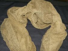 SNIPER VEIL SCARF MESH FABRIC 100% Cotton Color Brown