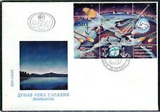 2630a - Yugoslavia 1993 - Danube - River of Cooperation - Souvenir Sheet - FDC