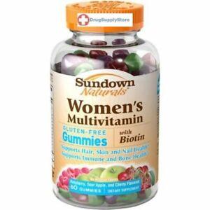 Sundown Multivitamins Womens Gummies 60ct gluten free with biotin